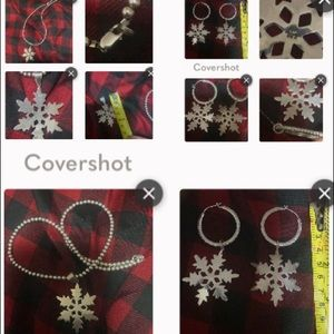 925 Snowflake Necklace & Earrings- separately